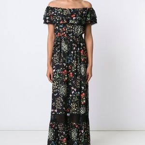 Alice + Olivia 'Cheri' black floral maxi dress